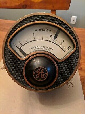 Vintage General Electric Amp Meter. Antique Steampunk1900s. Make Me An Offer