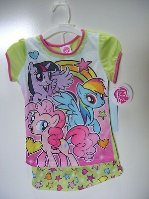 Mlp Pajamas (My Little Pony Girl's 2 Piece Pajama Short Pants Set)