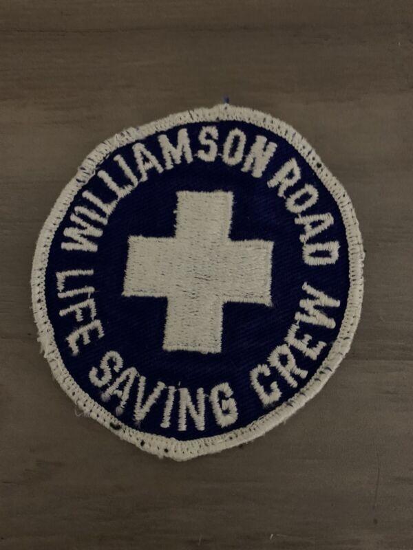 Vintage Williamson Road Life Saving Crew  Patch Roanoke Virginia EMS