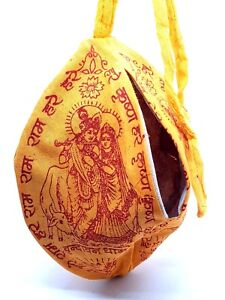 Krishna Prayer Puja Japa Mala Bag Hindu Chant Yoga Meditation Hare Rama UK
