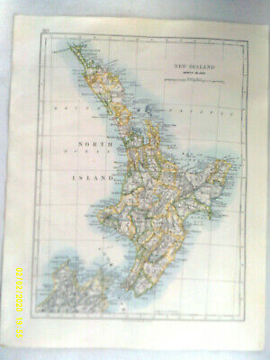 Double-sided Antique Map. NEW ZEALAND (North Island) / WEST AUSTRALIA. c1895. VG