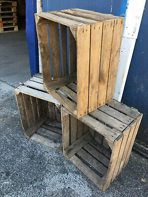 APPLE CRATES - Clearance Grade - CHOOSE YOUR QTY -  Wooden Boxes - FREE Delivery