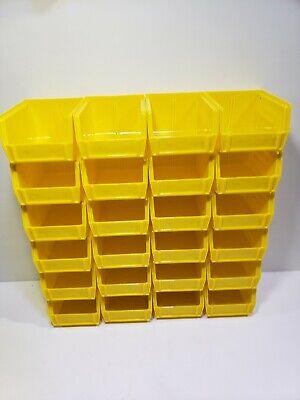Akro-mils Akrobin Stack Hang Bin 5-38d X 4-18w X 3h Yellow 24 Pack 30-210