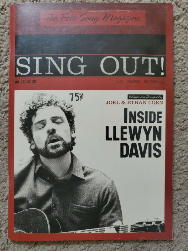 INSIDE LLEWYN DAVIS  PROMOTIONAL 68 PAGE PRESS BOOK BOOK