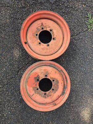 Kubota L-series L2050 L2350 L2550 L3600 L3650 Oem Front 4x4 Wheel Rim Set 8 - 16