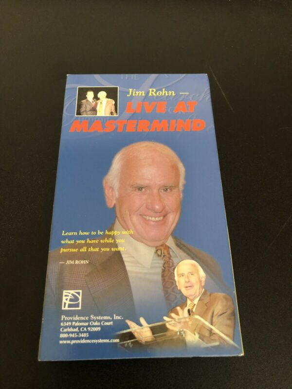 Jim Rohn Live at the Mastermind 2002 VHS tape 92 minutes