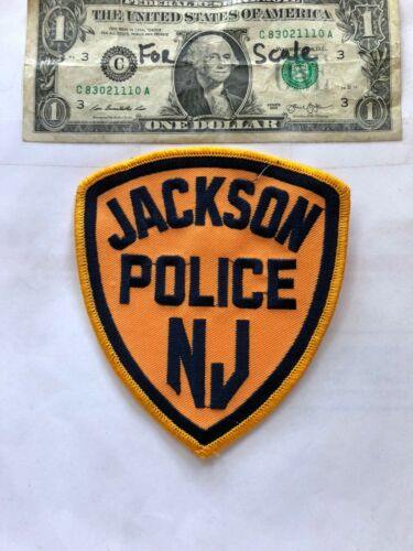 Jackson New Jersey Police Patch Pre-sewn in good Shape