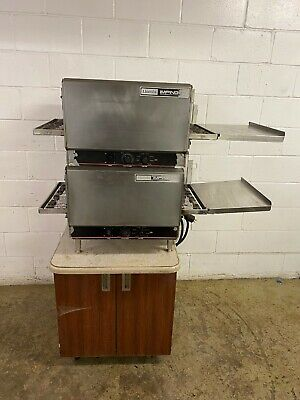 Lincoln Impinger 1301 Double Stack Conveyor Pizza Ovens 208 Single Phase Tested