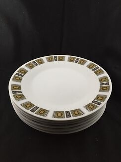 Full set of plates (Royal Ceramics) Flora Hill Bendigo City Preview