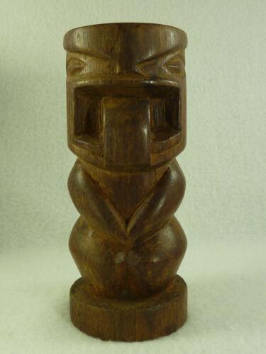 Vintage Tiki Hand Carved Wood Totem Figure Statue