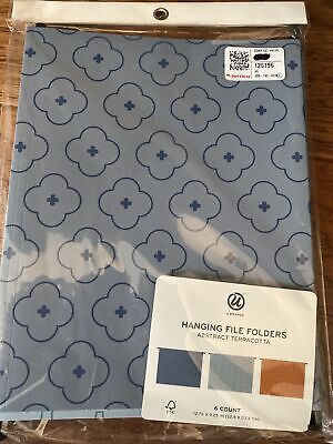 U Brands 6ct Hanging File Folders Abstract Terracotta. New