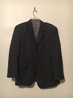 Giorgio Cosani Stripe Luxury Wool Cashmere Suit Blazer Jacket Chest 38 Length S