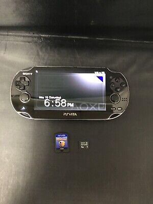 Sony PS Vita Console PCH-1101 w/ 4GB Memory Stick & Game (little deviants)