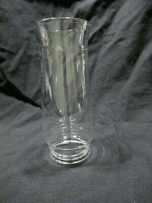 """Vintage Clear Glass Hurricane Lamp Shade Globe Chimney for Oil Lamp 7"""" Tall"""