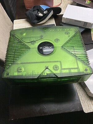 Original Xbox Halo Special Edition Translucent Green Console- 100% Working!