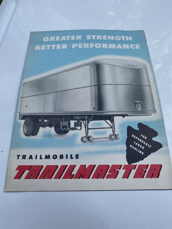Vintage Trailmobile Trailmaster Semi Trailer Sales Brochure