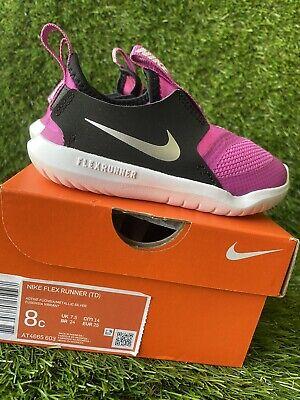 TODDLER GIRLS: Nike Flex Runner Shoes, Active Fuchsia - Size 8C AT4665-603