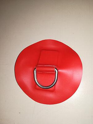 D- Ring Edelstahl für Schlauchboote in Rot