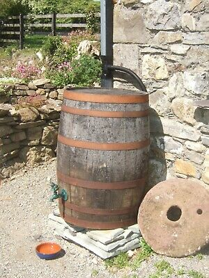 WHISKEY 40 GALLON OAK BARREL - IDEAL GARDEN ALLOTMENT WATER BUTT - WATERTIGHT