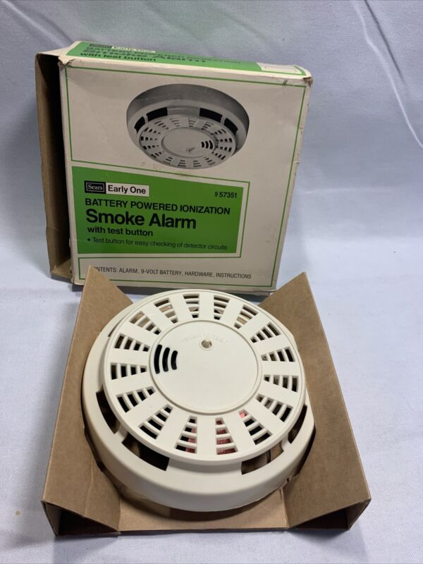 Vintage Sears Early One Smoke Alarm Detector 957351 Early Warning NIB Z3