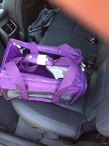 Small pet airplane approved travel carrier
