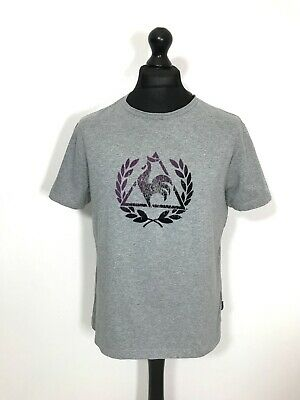Vintage LE COQ SPORTIF T-Shirt MEDIUM Grey Short Sleeve Tee Top Men's Casual Vtg
