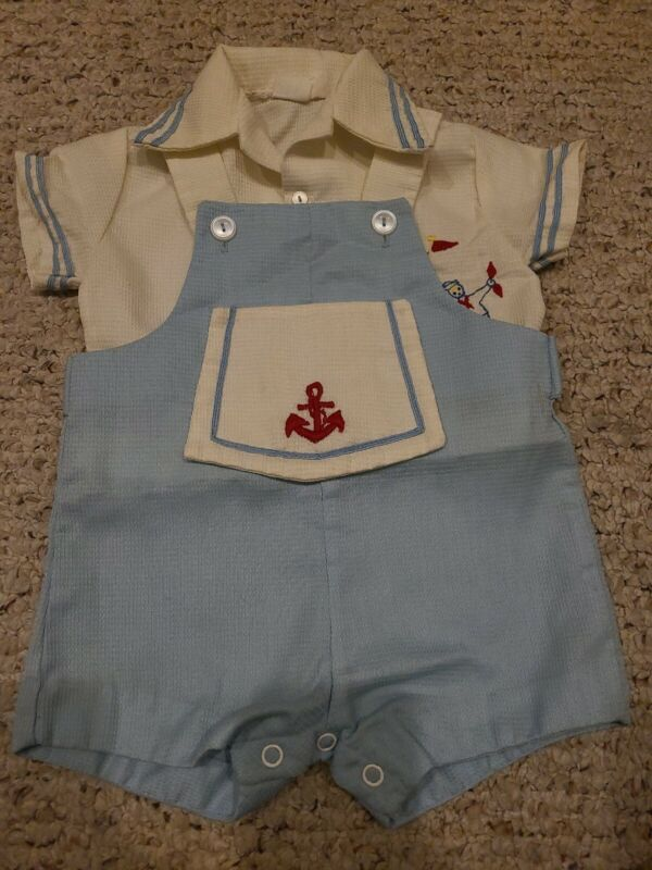 Vintage Baby Togs Inc Boy Outfit Nautical 1970s CUTE!