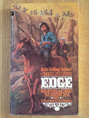 EDGE #38 Massacre Mission George Gilman Western Great Cover Art L@@K WOW!!!