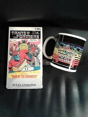 Transformers VHS War Of Dinobots Vol. 9 Optimus Prime Cover collector mug cup