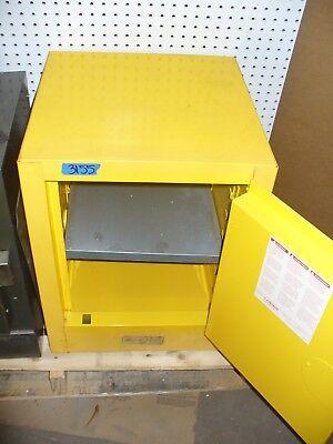 JustRite 4 Gallon/15 Liter Lockable Flammable Storage Cabinet w 1 Shelf & Keys
