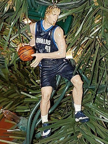 Dirk Nowitzki Dallas Mavericks basketball NBA xmas ornament HOLIDAY jersey Mavs