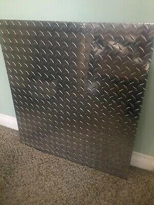 5086 Aluminum Diamond Bright Tread Plate. 18 X 24 X 26.  Fedex 7 Shipping