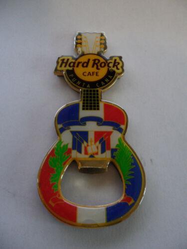Hard Rock Cafe Punta Cana - National Flag - Guitar HRC Logo Magnet Bottle Opener