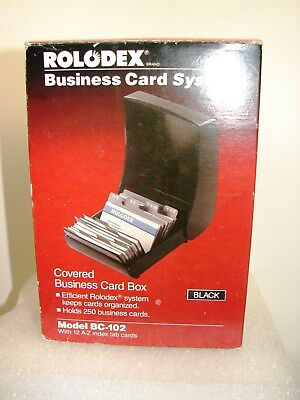 Rolodex Business Card System Model Bc-102 New Old Stock