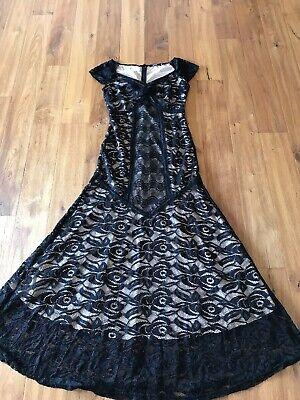 Miusol Kleid Abendkleid Ballkleid Spitze Schwarz Beige M 38 Neu Miusol Kleider