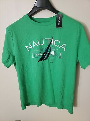 NWT Nautica Men's Brand New Graphic T-Shirt Maritime 100% Cotton Tee Size Large