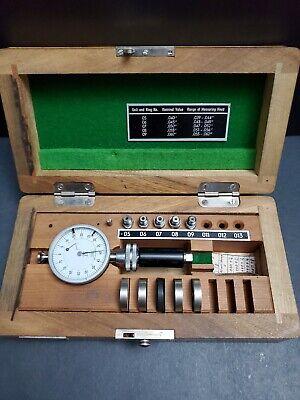 Diatest Small Bore Gage Set 0.039 0.062 Rings Machinist Split Gauge Dial