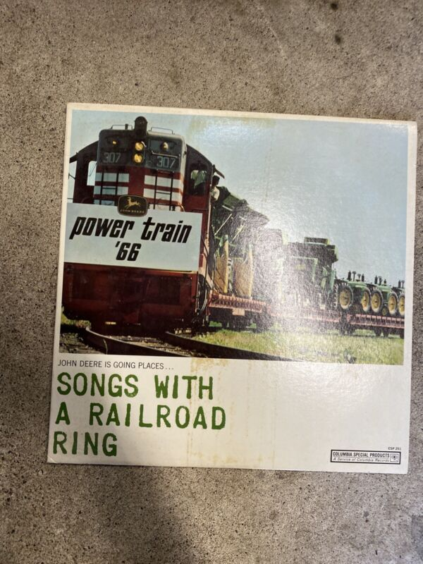 Vintage 1966 JD JOHN DEERE Power Train Songs With A Railroad Ring Record LP