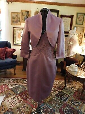 STUNNING LAVENDER MOTHER OF THE BRIDE/GROOM OR SPECIAL OCCASION 2-PIECE SUIT SZ8 (Mother Of The Bride Suits)