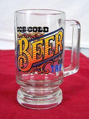 Glas Stein Becher Ice Cold Bier On Tap Klare 5.5