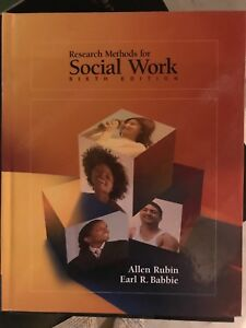 Research methods for social work. 6 edition