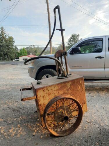 1919 Boyle Dayton curbside gas pump cart