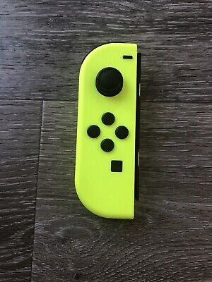 Genuine Nintendo Switch LEFT Side Neon YELLOW Joy Con Controller Only! Tested!