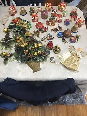 vintage Joblot christmas decorations Job lot Deco Bundle