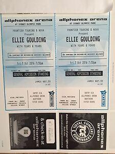 x 2 Tickets to Ellie Goulding @ Olympic Park Sydney Rockdale Rockdale Area Preview