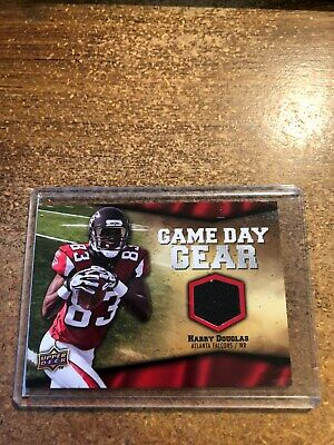 2009 Upper Deck Football Game Day Gear # NFL-HA Harry Douglas Black 1 Black Game Day Football Jersey
