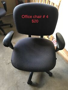 Four office chairs for sale