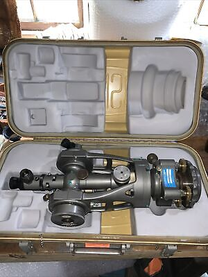 Brunson 76rh-190 M76-rh Telescopic Optical Tooling Transit Square W Case Euc