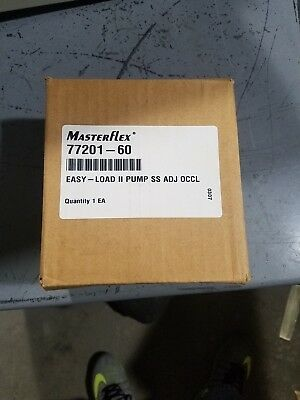 New Cole Parmer Masterflex Pump Head Peristaltic Easy Load Ii Model 77201-60