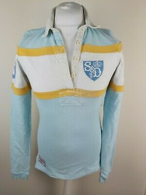 Womens Superdry Long Sleeve Rugby Shirt Blue Medium 36 Chest Polo